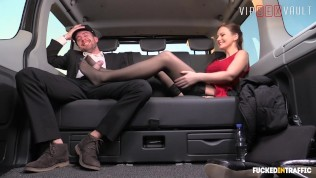 VIPSEXVAULT – Hot British Babe Tina Kay Drilled By Czech Uber Driver